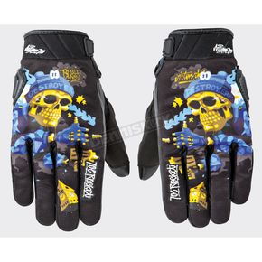 Joe Rocket Black/Blue Artime Joe Destroy Gloves - 1612-1204