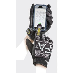 Joe Rocket Black/White Artime Joe Fast Gloves - 1618-2203