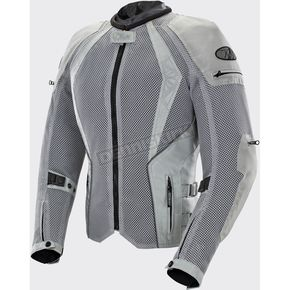 Joe Rocket Women's Silver Cleo Elite Textile Mesh Jacket - 1653-0306