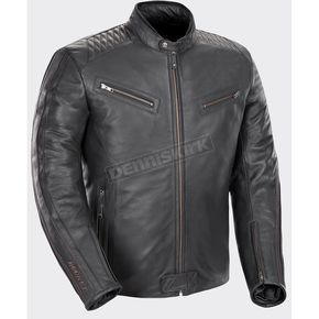 Black Vintage Rocket Leather Jacket