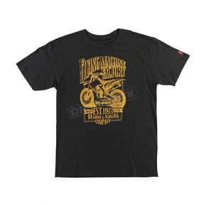 FMF Heather Black Established Tee Shirt - FA6118915HBKXL