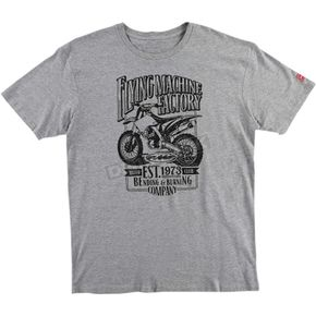 FMF Heather Gray Established Tee Shirt - FA6118915HGRM