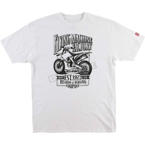 FMF White Established Tee Shirt - FA6118915WHTL