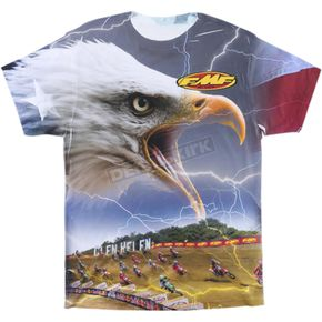 FMF White Lighting Bird Tee Shirt  - SU6118901WHT2X