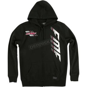 FMF Black Capital Hooded Zip Up - FA6122903BLKXL