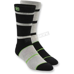 100% Black Austin Socks - 24004-001-18