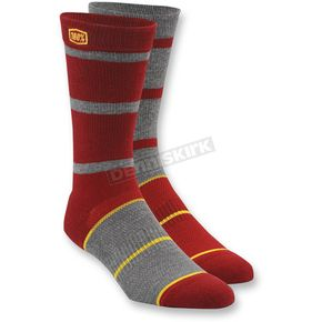 100% Burgundy Austin Socks - 24004-003-17