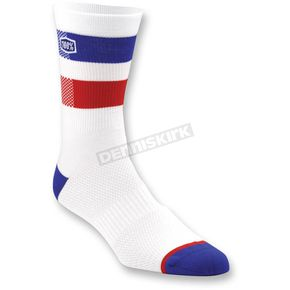 100% White Flow Socks - 24005-000-17