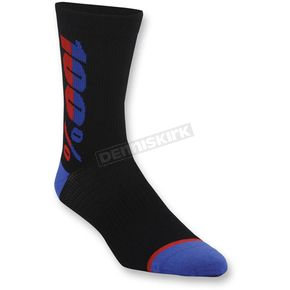 100% Black Rhythm Socks - 24006-001-17