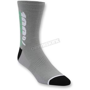 100% Charcoal Rhythm Socks - 24006-007-17