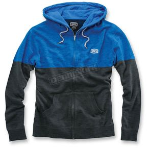 100% Heather Blue/Dark Gray Arvius Hoody - 36012-059-10