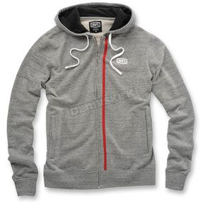 100% Drew Gray Fleece Zip Hoody - 36015-007-10