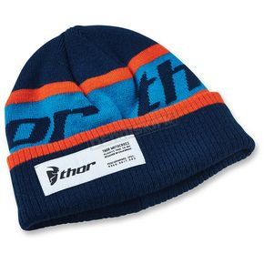 Thor Navy/Orange Race Ribbed Beanie - 2501-2511