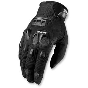 Thor Black Defend Gloves - 3330-4336