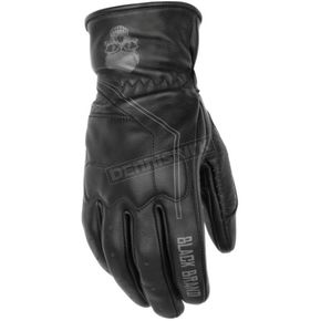 Black Brand Pinstripe Gloves - BB7165
