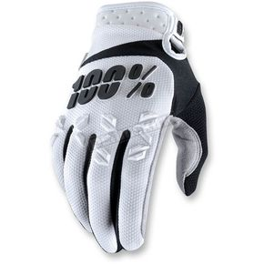 100% White Airmatic Gloves - 10004-008-13