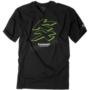 Factory Effex Black Kawasaki Knockout T-Shirt - 19-87124