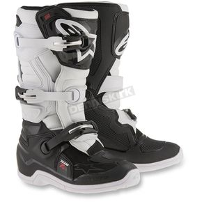 Alpinestars Black/White Youth Tech 7S Boots - 2015017-12-4