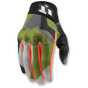 Icon Green Anthem Deployed Mesh Gloves - 3301-2874