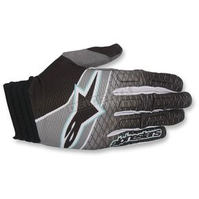 Alpinestars Black/Teal/Dark Gray Aviator Gloves - 3560317-1016-2X
