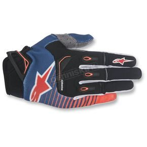 Alpinestars Dark Blue/Orange/White Techstar Gloves - 3561017-7043-XL