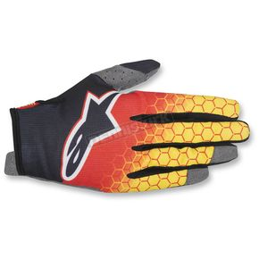 Alpinestars Red/Black/Yellow Radar Flight Gloves - 3561817-319-MD
