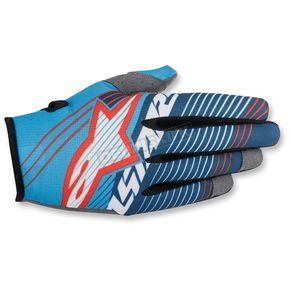 Alpinestars Cyan/White/Dark Blue Radar Tracker Gloves - 3561917-7027-2X