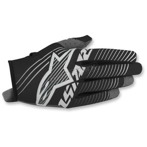 Alpinestars Youth Black/White Radar Tracker Gloves - 3541917-12-SM