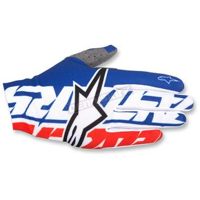 Alpinestars Blue/White/Red Dune-1 Gloves - 3562517-723-SM