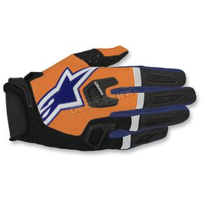 Alpinestars Flo Orange/Dark Blue/White Racefend Gloves - 3563517-473-XL