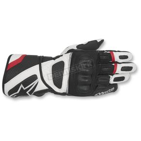 Alpinestars Black/White/Red SP-Z Drystar Gloves - 3527917-123-S