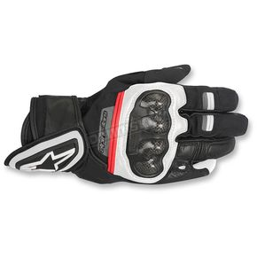 Alpinestars Black/White/Red Rage Drystar Gloves - 3526817-123-S