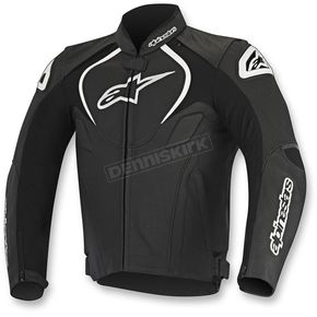 Alpinestars Black Jaws Perforated Leather Jacket - 3101116-10-46