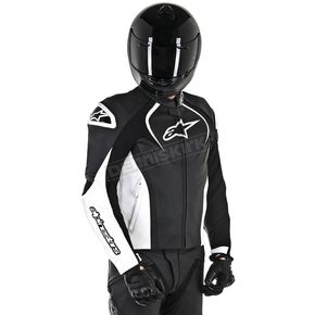 Alpinestars Black/White Jaws Leather Jacket - 3101016-12-46