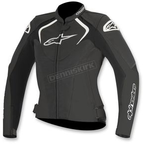 Alpinestars Womens Black Stella Jaws Leather Jacket - 3111016-10-46