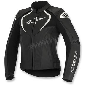 Alpinestars Black Womens Stella Jaws Perforated Leather Jacket - 3111116-10-42