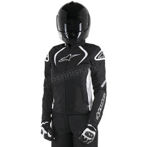 Alpinestars Black/White Womens Stella T-Jaw Air Jacket - 3311517-12-XL