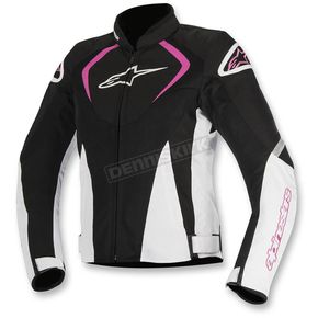 Alpinestars Black/White/Pink Womens Stella T-Jaw Air Jacket - 3311517-1239-M