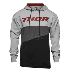 Thor Heather Gray/Burgundy Main Event Pullover Hoody - 3050-3700