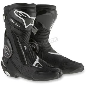 Alpinestars Black SMX Plus Vented Boots  - 2221015-100-39