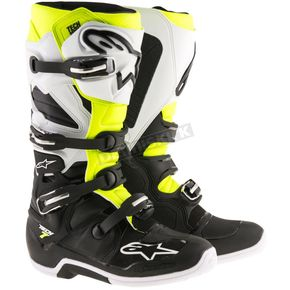 Alpinestars Black/White/Yellow Tech 7 Enduro Boots - 2012114-125-7