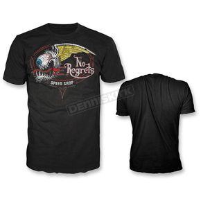 Lethal Threat Black No Regrets T-Shirt - HT20401XL