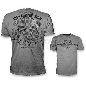 Lethal Threat Gray High Compression Pistons T-Shirt - VV40102XXL