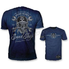 Lethal Threat Blue Speed Shop T-Shirt - VV40110XL