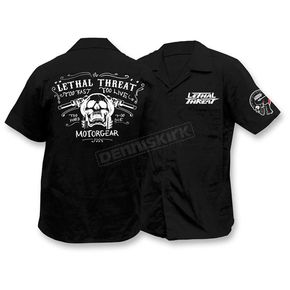 Lethal Threat Skull Handlebars Work Shirts - FE50161XL