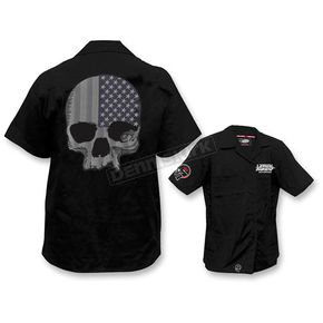 Lethal Threat USA Skull Work Shirts  - FE50169M