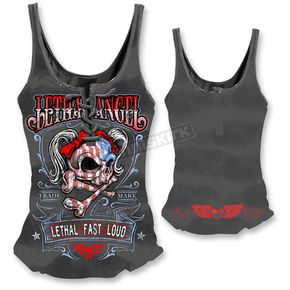 Lethal Threat Womens USA Girl Tank Top  - LT20302M