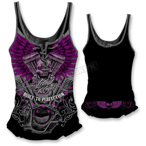 Lethal Threat Womens VTwin Skull Tank Top  - LT20321L