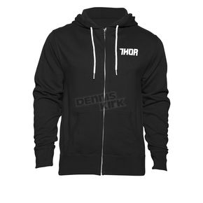Thor Black/White Driven Zip Up Hoody - 3050-3869