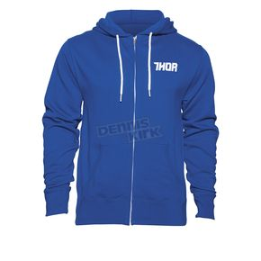 Thor Navy/White Driven Zip Up Hoody - 3050-3873